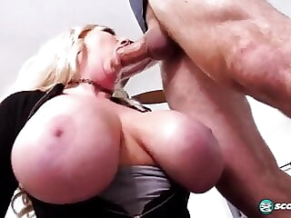 Busty blonde Victoria gives blowjob titjob and fucking blowjob cumshot milf freeones
