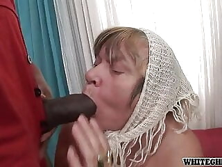 White Granny Loves Big Black Cock And Gets Creampied bbw hairy creampie freeones