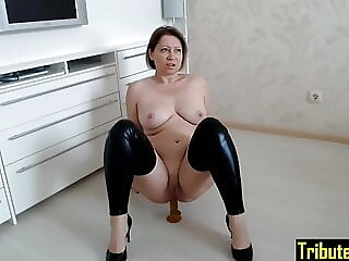 16 – Cowgirl Cucumber anal mature milf freeones