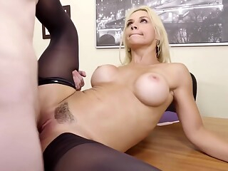 Sarah Vandella Irresistible Cougar Boss Stalks Employ big tits blonde cougar freeones