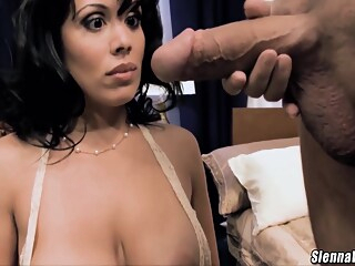 Sienna West smashed with a huge white dick cum on tits - Chris Charming big cock big tits brunette freeones