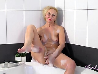 AuntJudys - Callidica Bathtub Masturbation shower mature hd freeones