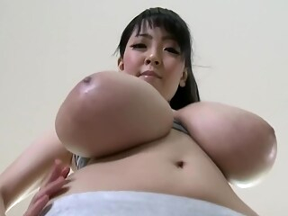 Hitomi Tanaka doing Yoga with her Huge Tits. asian big tits brunette freeones
