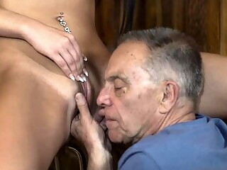 Old man young Can you trust your gf leaving her alone with y blowjob brunette hardcore freeones