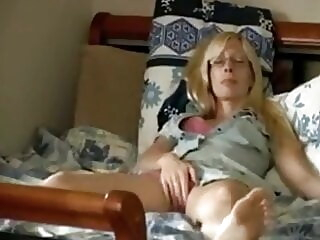 Stepmom allows me to spy on her amateur blonde milf freeones