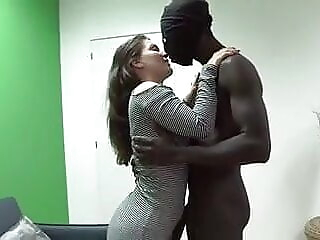 Cloe's dream was a BIG BLACK COCK, and today she's making it come true blowjob brunette cumshot freeones