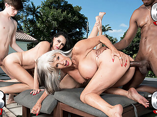 Three Gilfs, Two Cocks And Chery's First Dp - Chery Leigh, Rita Daniels, And Sally D'angelo - 60PlusMilfs anal big ass big tits freeones