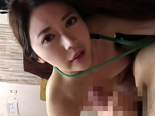 Incredible sex video Handjob unbelievable show asian brunette censored freeones